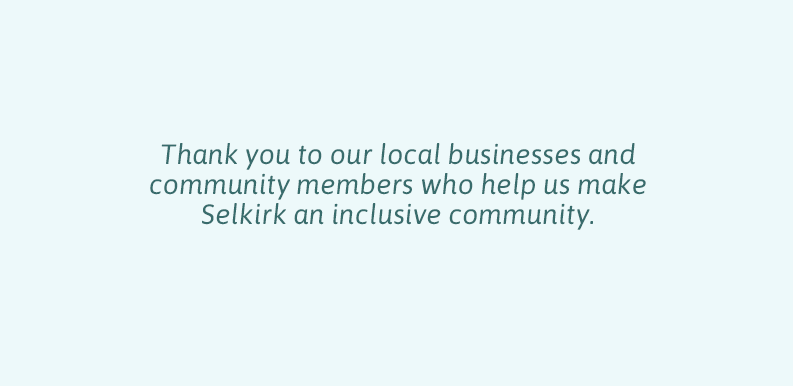 Thank you to local businesses and the community
