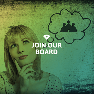 Woman thinking about joining the Board colored green